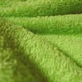Tissu éponge  vert acide