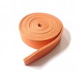 Lanière 19 mm cuir orange